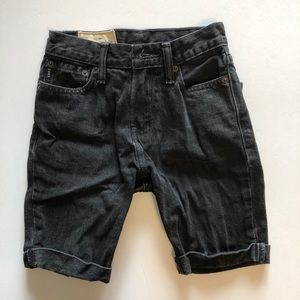 Abercrombie Kids Black Jean Cuffed Shorts Sz 8